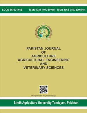 Pakistan Journal of Agriculture, Agricultural Engineering